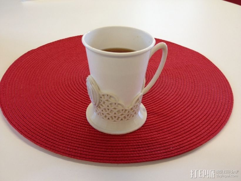 Podstakannik杯架 3D打印模型渲染图