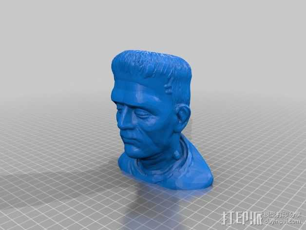 Frankenstein弗兰肯斯坦半身像 3D打印模型渲染图