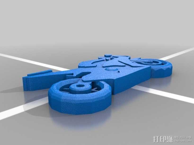 本田CBR1000RR火刃摩托车模型 3D打印模型渲染图