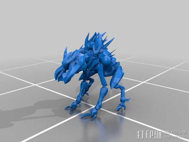 光晕4 普罗米修斯机器人 3D打印模型渲染图