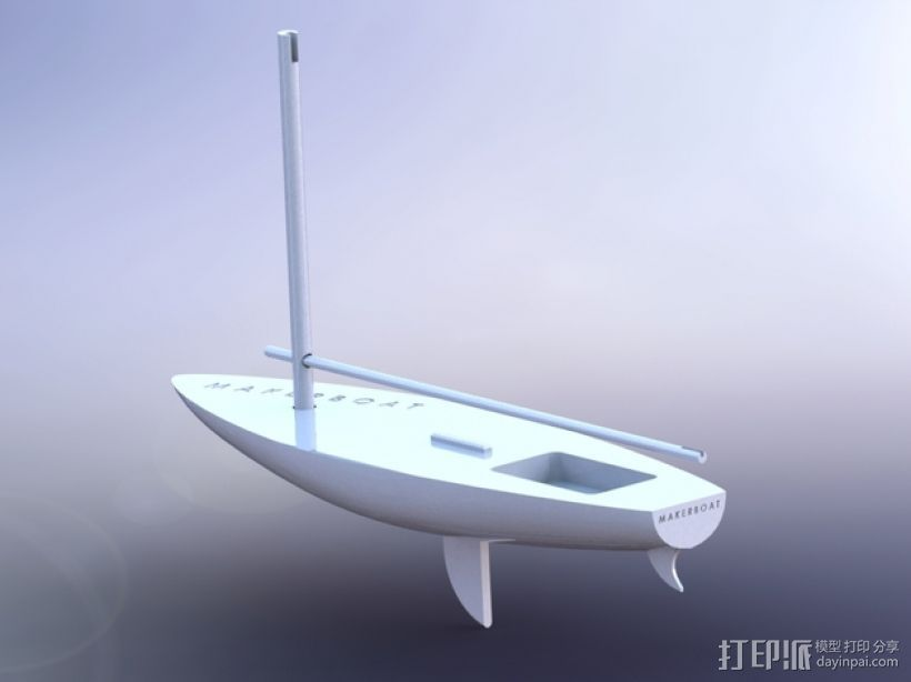 MakerBoat船模型 3D打印模型渲染图