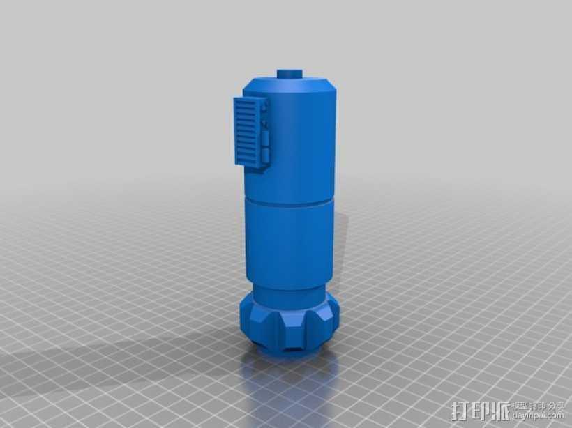 Luke的光剑  3D打印模型渲染图