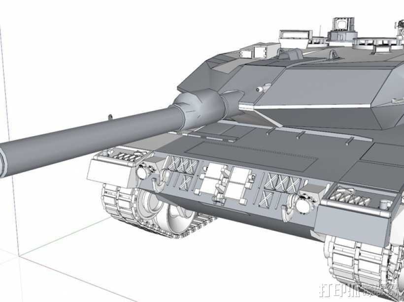 Leopard 2A6 坦克 3D打印模型渲染图