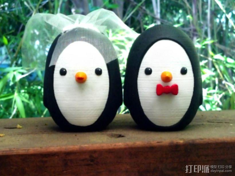 婚礼企鹅 3D打印模型渲染图