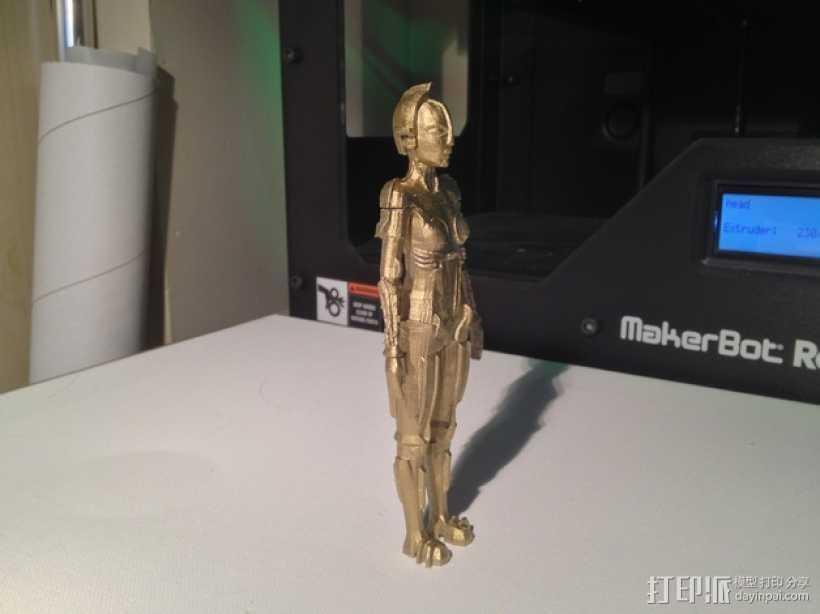机器人Maria 3D打印模型渲染图