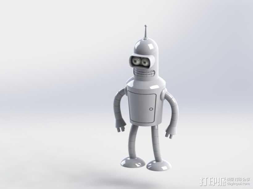 Bender机器人  3D打印模型渲染图