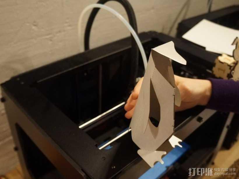 可爱的企鹅 3D打印模型渲染图