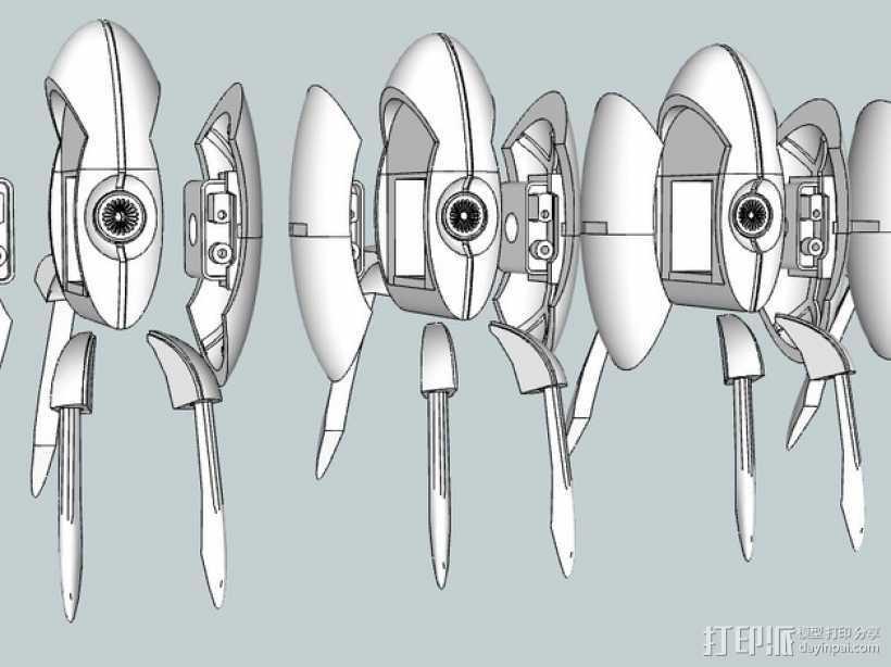 传送门炮塔 3D打印模型渲染图