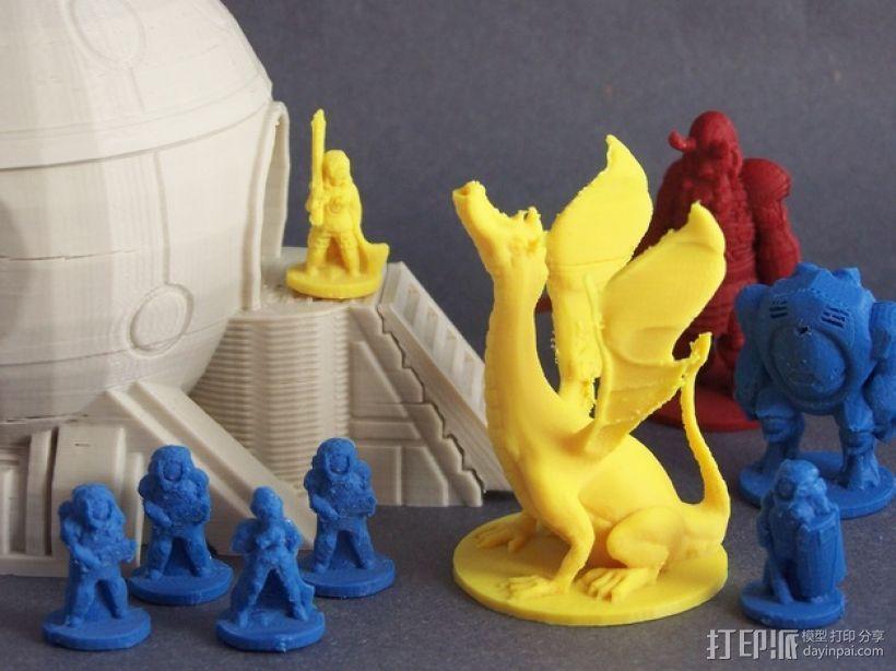 Adalinda唱歌的蛇 3D打印模型渲染图