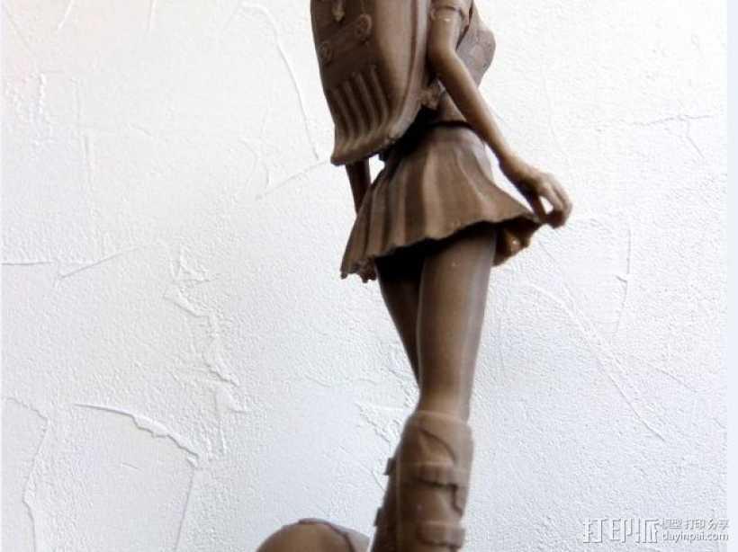 校服女孩 3D打印模型渲染图