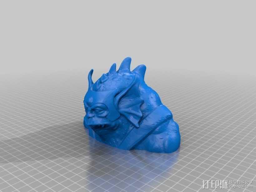 变身后的霹雳猫半身像 3D打印模型渲染图