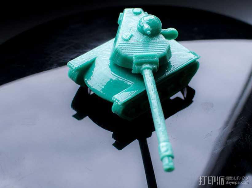 T110E5坦克 3D打印模型渲染图