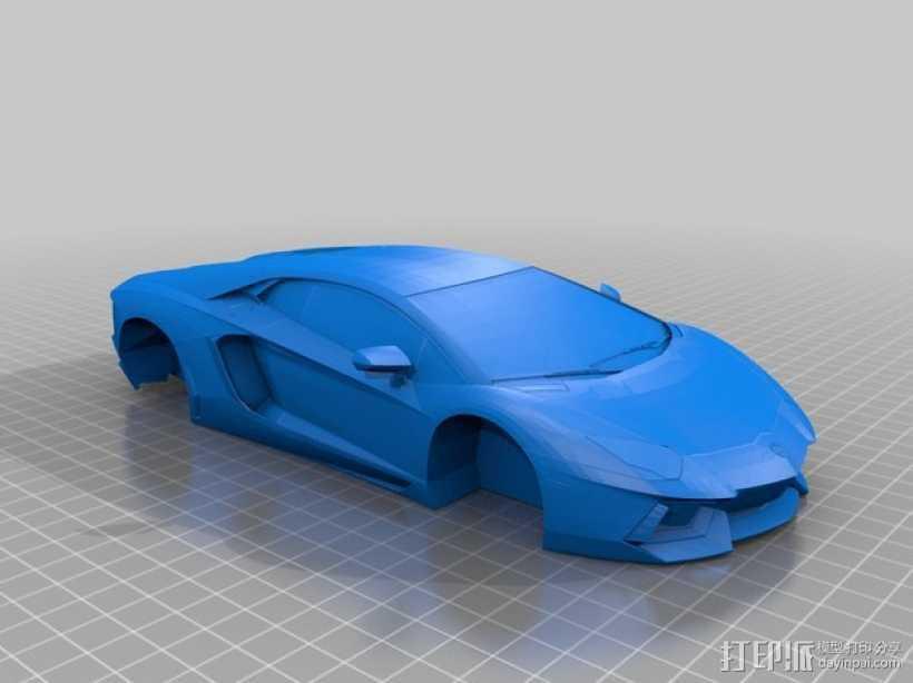 Lamborghini Aventador 兰博基尼跑车 3D打印模型渲染图