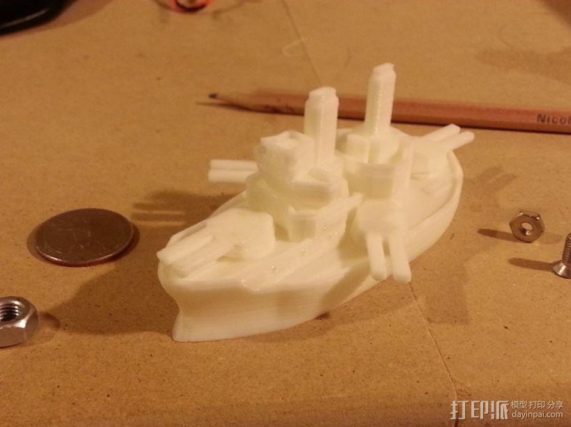 无畏号战舰 3D打印模型渲染图