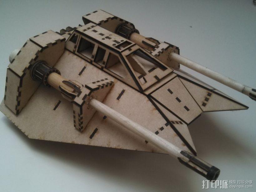 星球大战雪地战机 3D打印模型渲染图