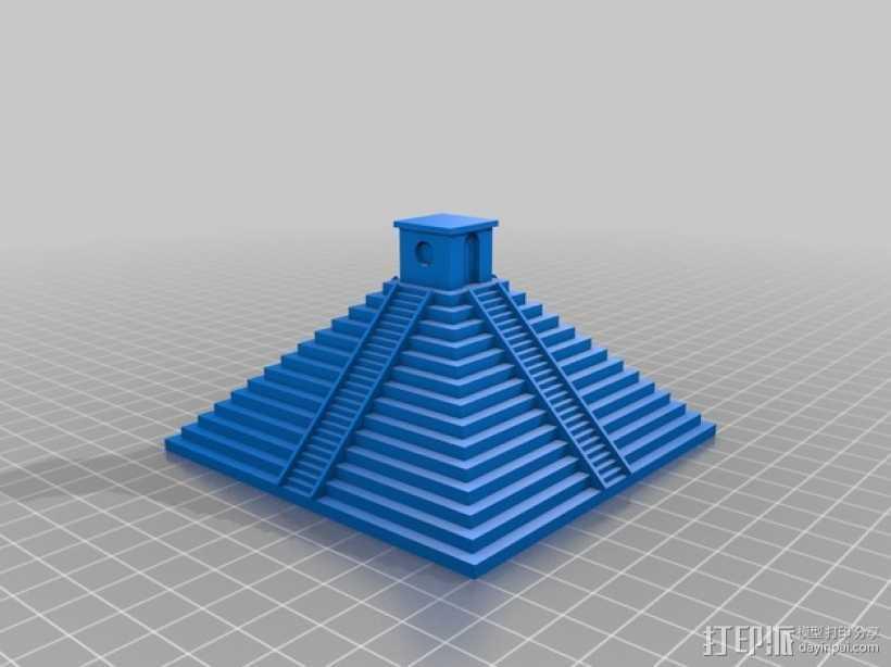 玛雅金字塔模型 3D打印模型渲染图