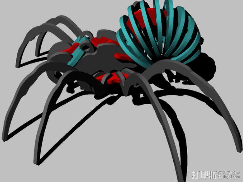 蜘蛛 3D打印模型渲染图