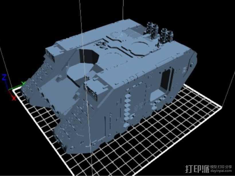 Land Raider坦克 3D打印模型渲染图