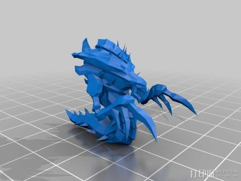 星际争霸海德拉刺蛇 3D打印模型渲染图
