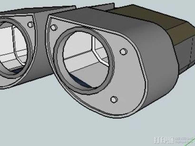 机器人眼睛 3D打印模型渲染图