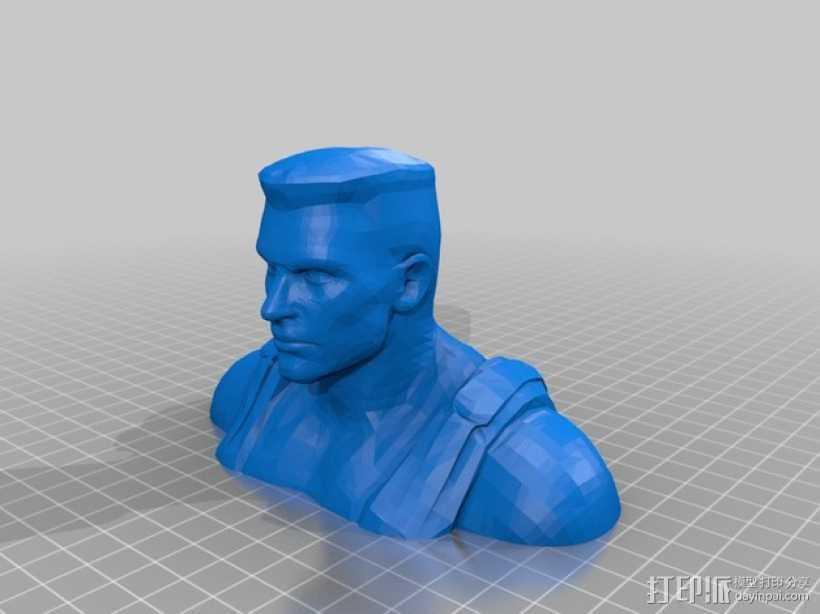 毁灭公爵半身像 3D打印模型渲染图