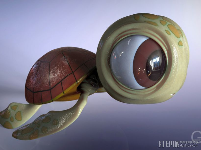 小海龟 3D打印模型渲染图