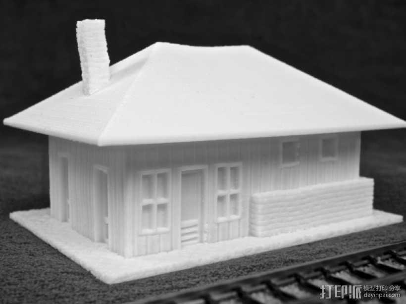 Dante Station房屋建筑 3D打印模型渲染图