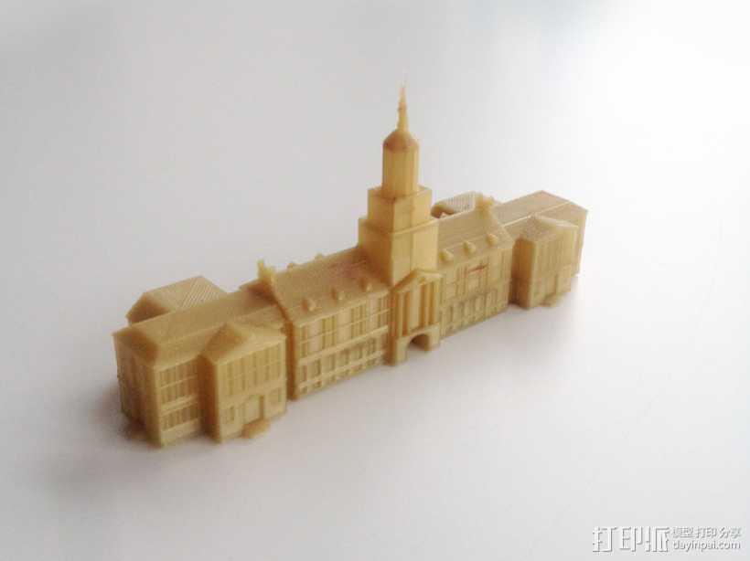 辛辛纳提大学  McMicken大厅 3D打印模型渲染图
