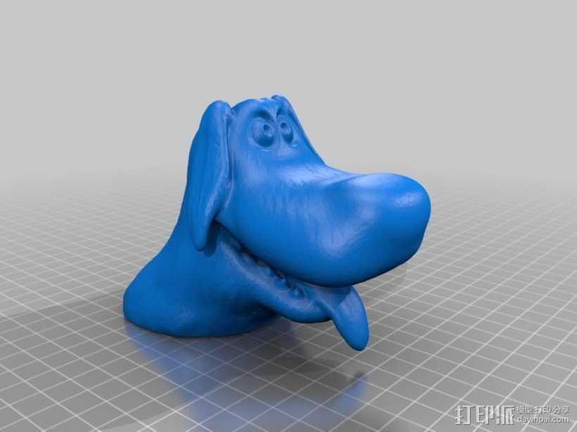 卡通狗 3D打印模型渲染图