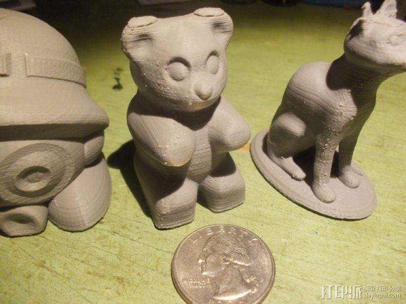 橡皮熊  3D打印模型渲染图