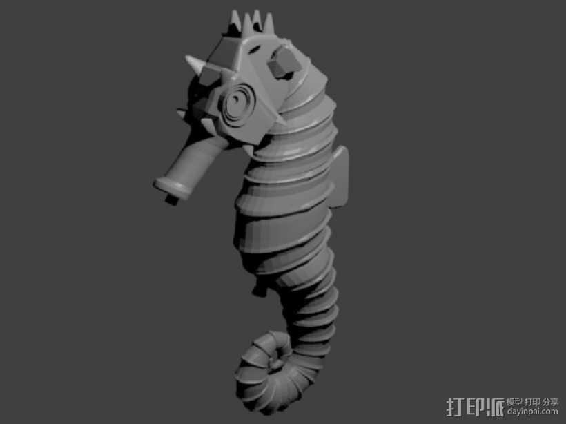 海马 3D打印模型渲染图