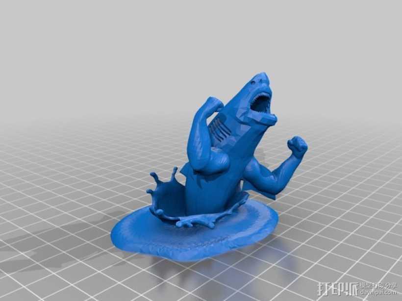 强壮的鲨鱼  3D打印模型渲染图
