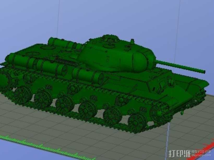KV-1S坦克 3D打印模型渲染图