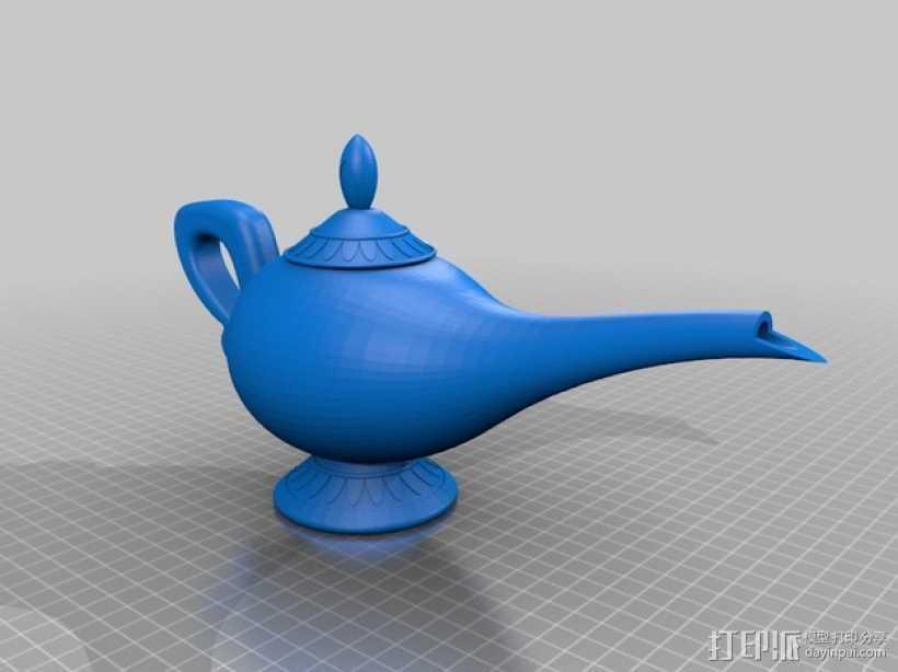 神灯 3D打印模型渲染图