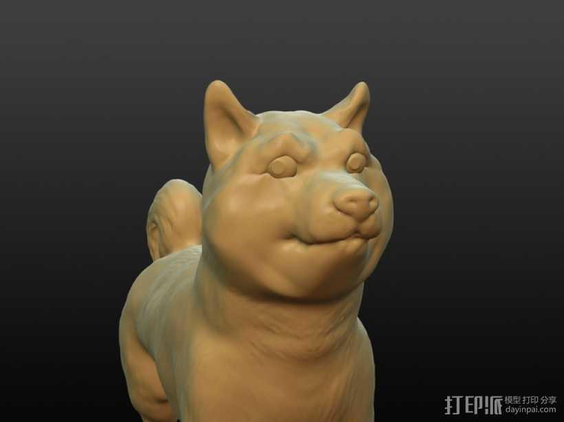 小狗模型 3D打印模型渲染图