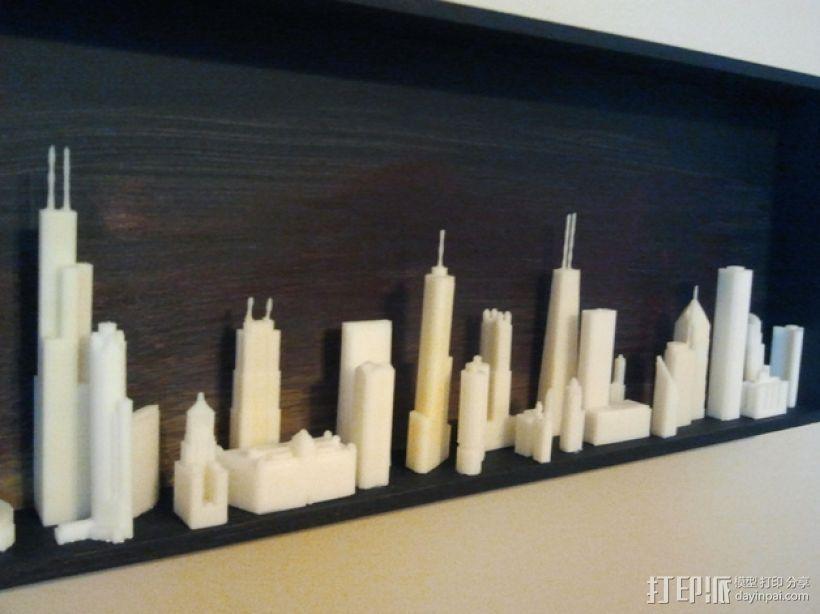 芝加哥摩天大厦 3D打印模型渲染图