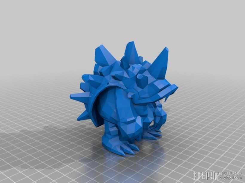弗雷尔卓德皮甲龙龟 3D打印模型渲染图