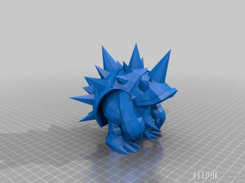 皮甲龙龟 3D打印模型渲染图