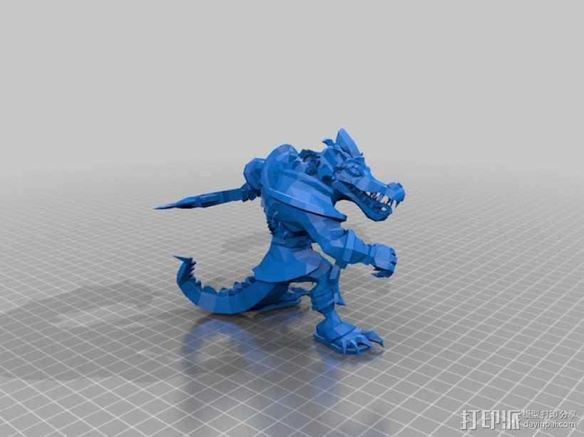 沙漠屠夫 3D打印模型渲染图