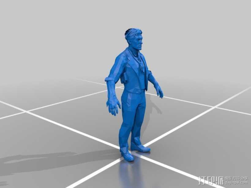 Booker DeWitt人像模型 3D打印模型渲染图