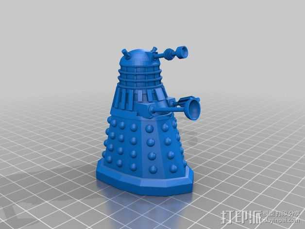 戴立克机器人  3D打印模型渲染图