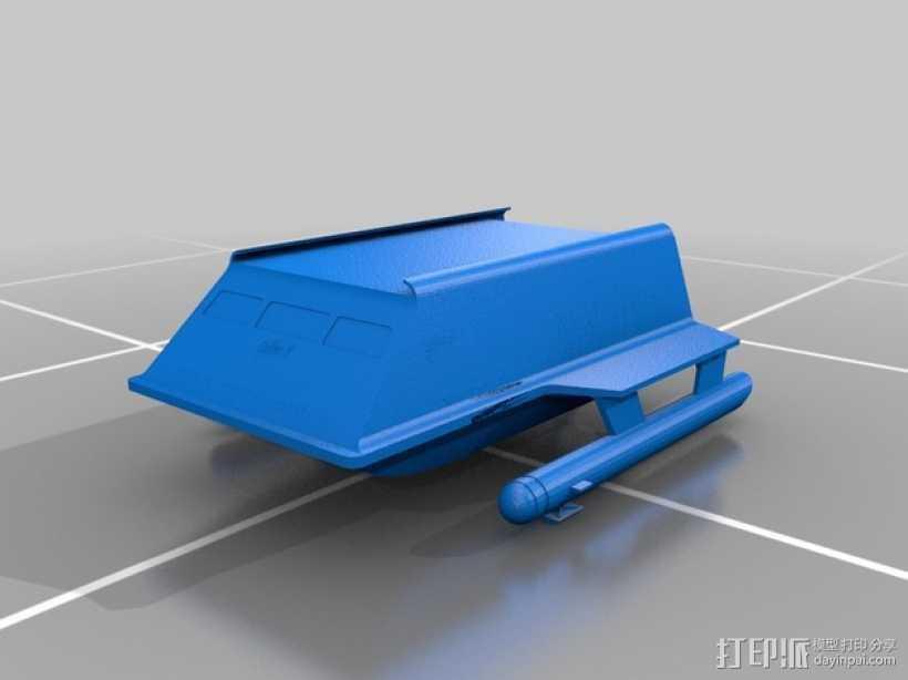 进取号飞船 3D打印模型渲染图