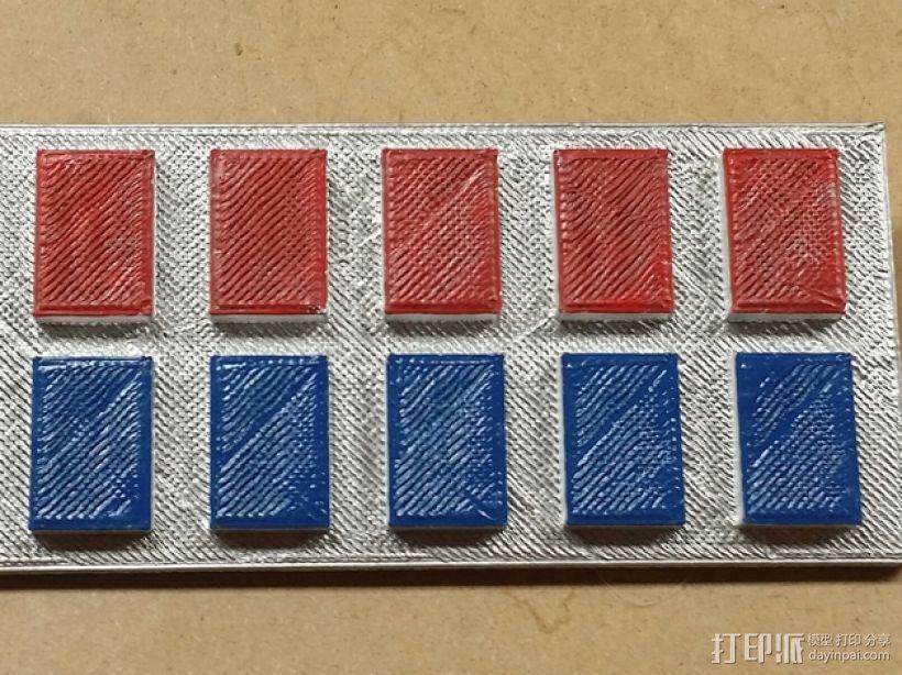星球大战帝国军衔徽章 3D打印模型渲染图