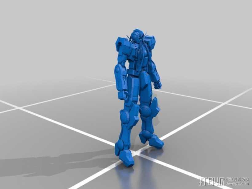 机械人 高达 3D打印模型渲染图