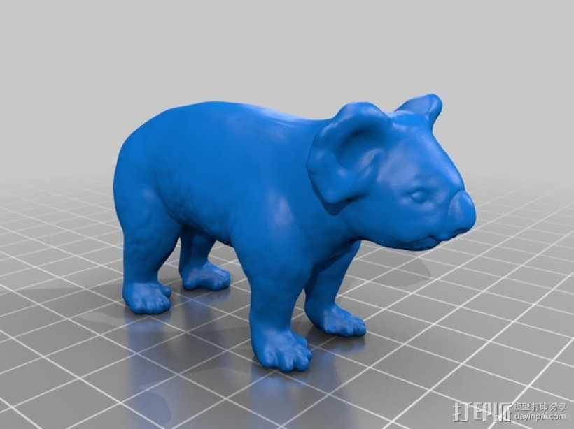 考拉 3D打印模型渲染图