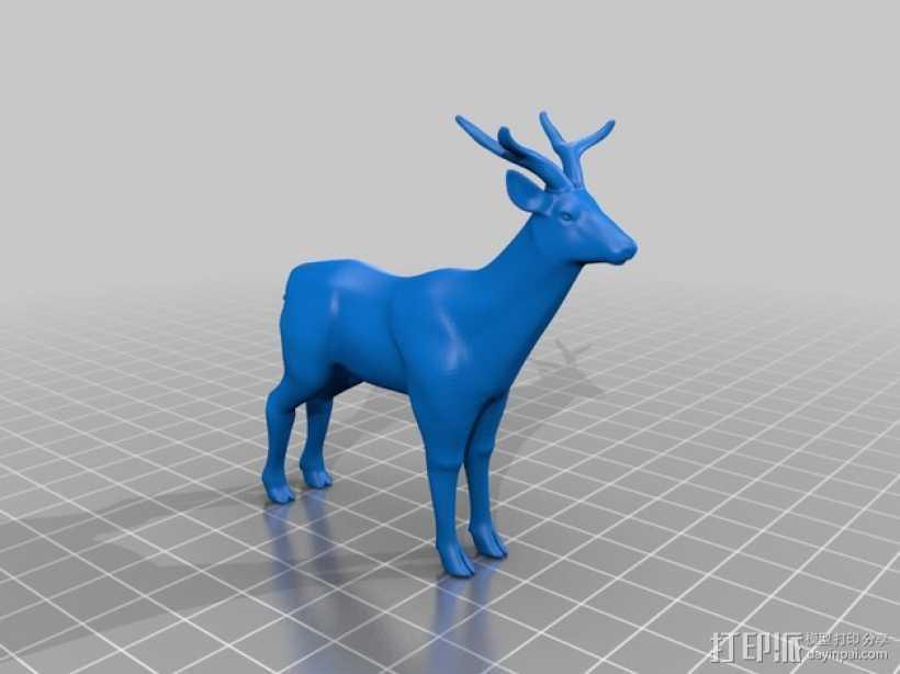 鹿 3D打印模型渲染图
