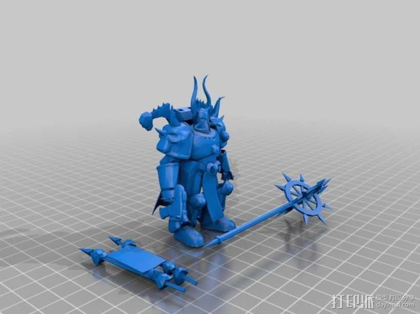 WH Eliphaz游戏造型 3D打印模型渲染图