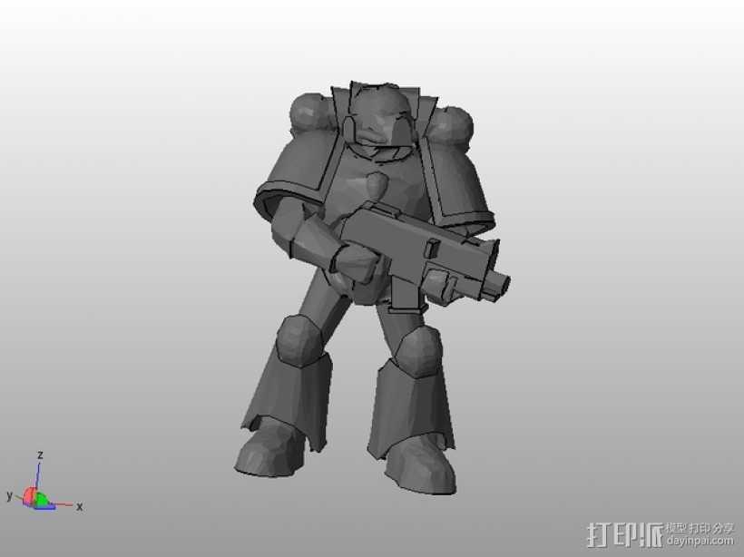 星际战士 3D打印模型渲染图