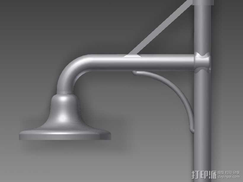 台灯 3D打印模型渲染图