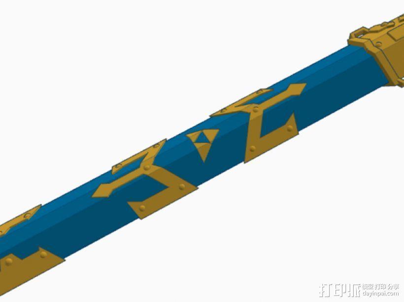 剑鞘 3D打印模型渲染图
